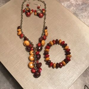 Jewelry - Necklace Bracelet. and Earring Set